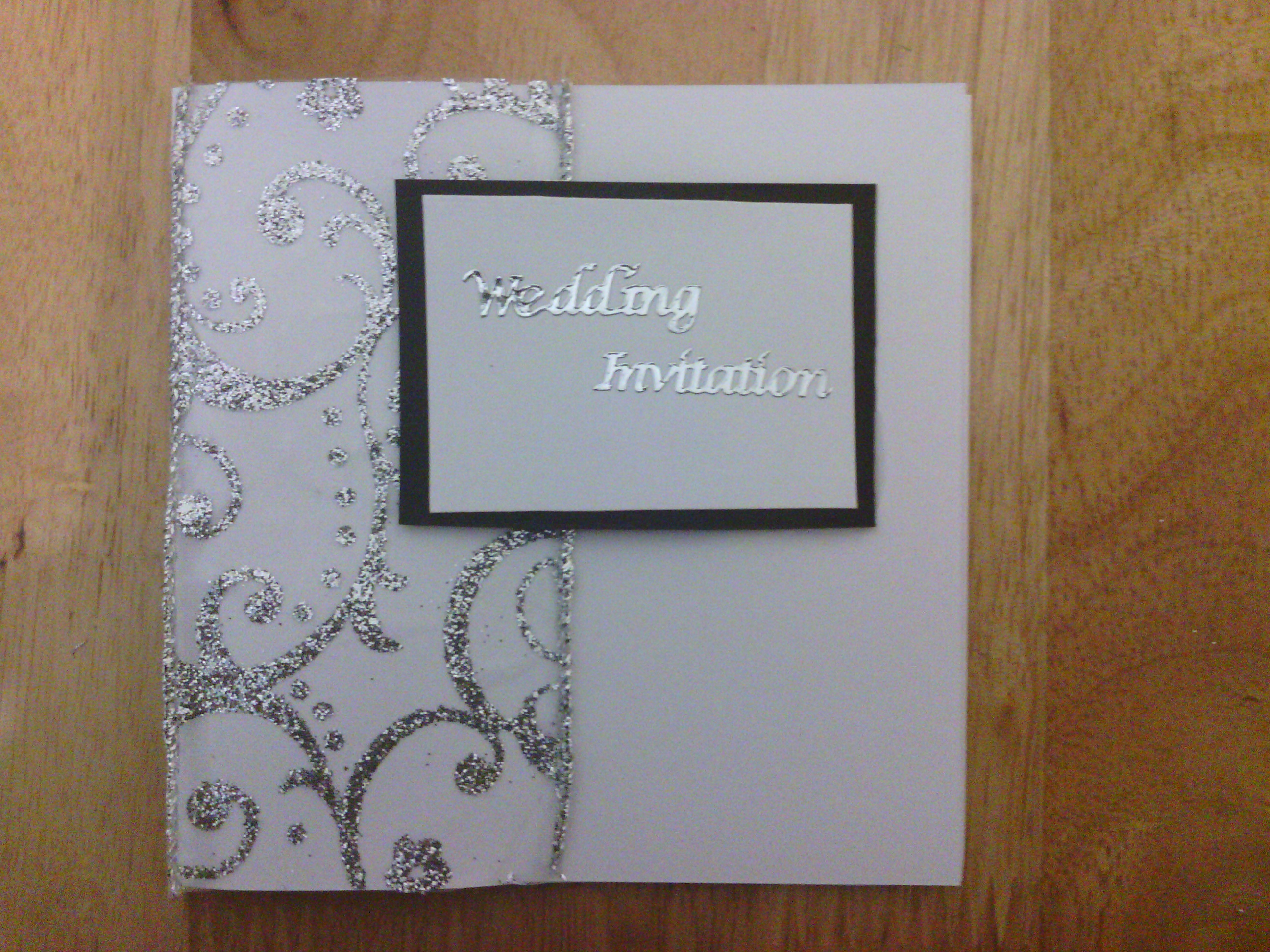 Make Your Own Wedding Invitations 50 Silver Red White and – Red White Wedding Invitations
